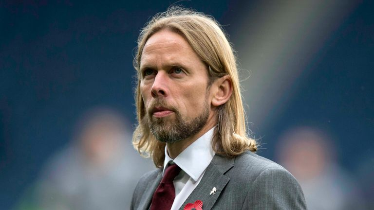 Hearts caretaker manager Austin Macphee during the Betfred Cup Semi Final match at Hampden Park, Glasgow. PA Photo. Picture date: Saturday November 2, 2019. See PA story SOCCER Rangers. Photo credit should read: Jeff Holmes/PA Wire. RESTRICTIONS: EDITORIAL USE ONLY