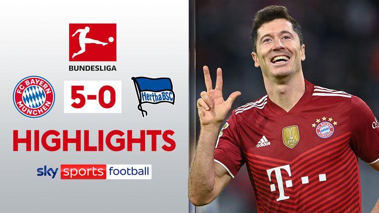 Hoogtepunten Bayern 5-0 Hertha