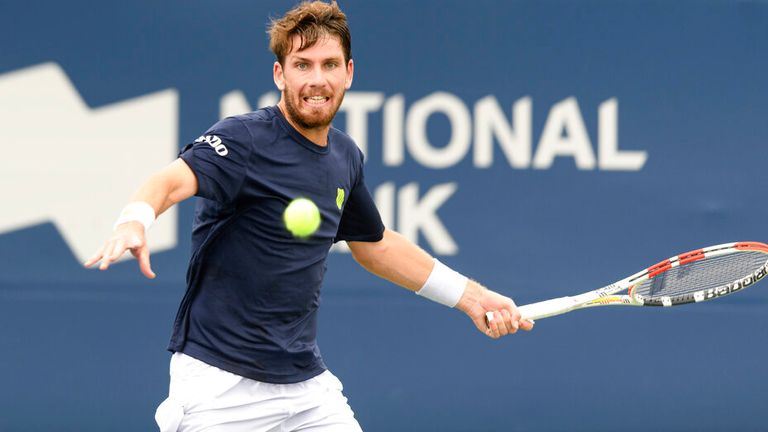 Cameron Norrie went out of the tournament after being beaten by John Isner (Photo by Julian Avram/Icon Sportswire) (Icon Sportswire via AP Images)