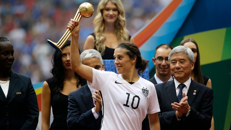 Carli Lloyd played a key role as USA won the 2015 World Cup - they defended their crown four years later