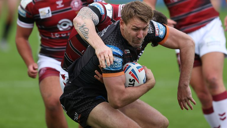 Shenton in action against Wigan