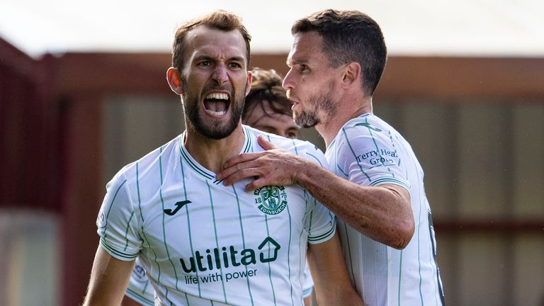 Christian Doidge equalised in the second half for Hibs