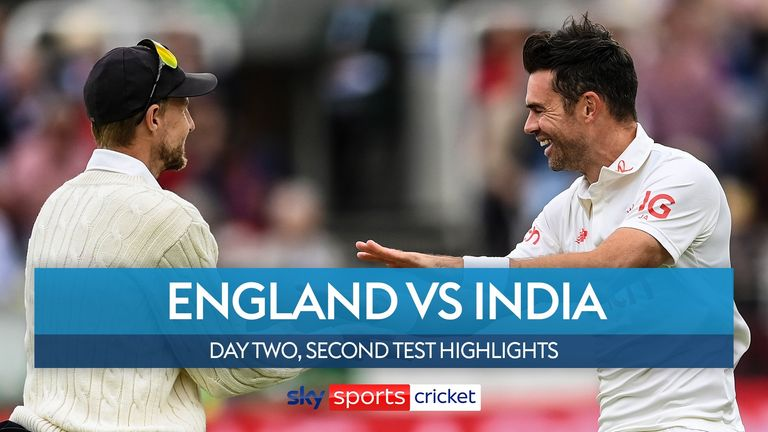 Highlights from day two of the second Test between England and India at Lord's