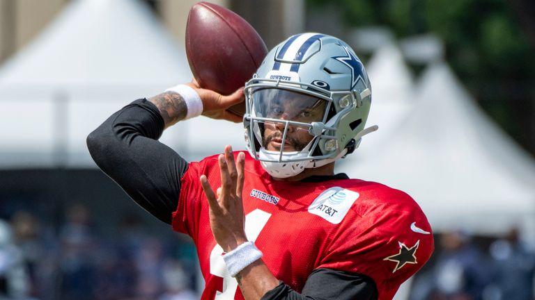 Dak is back for the Dallas Cowboys. (AP Photo/Michael Owen Baker)