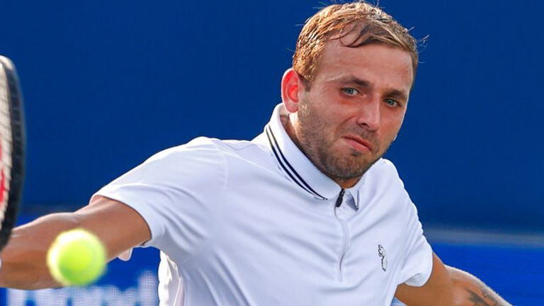 Dan Evans was knocked out of the Winston-Salem Open by Richard Gasquet