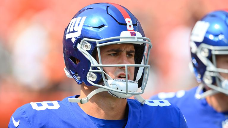 It's a defining season for Giants quarterback Daniel Jones. (AP Photo/David Richard)