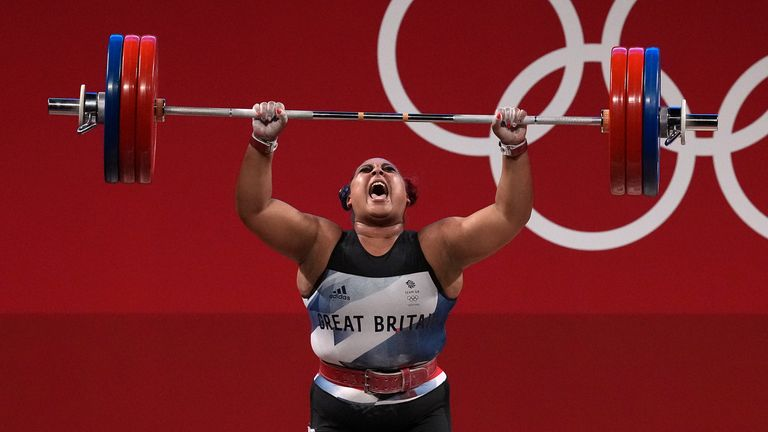 Emily Campbell landed the first women's Olympic weightlifting medal for Great Britain with silver in the +87kg category in Tokyo.