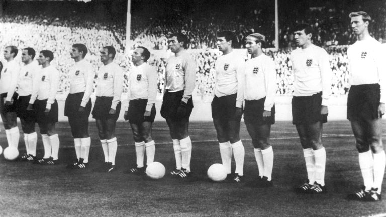 AP: England team line up at World Cup 1966