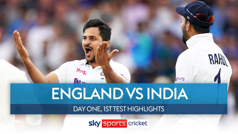 Highlights of the opening day of the first Test between England and India at Trent Bridge.