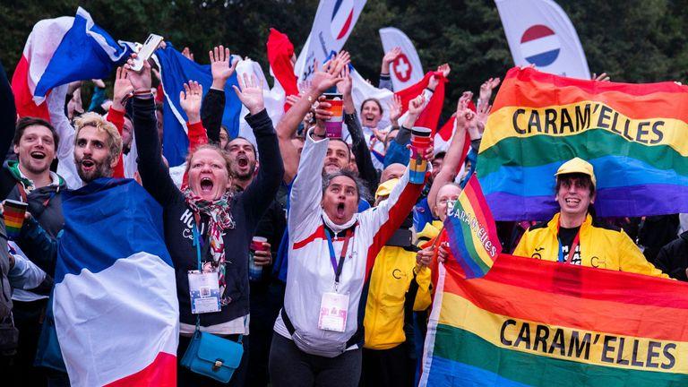 The EuroGames opening ceremony was held in Faelledparken in Copenhagen on Wednesday night