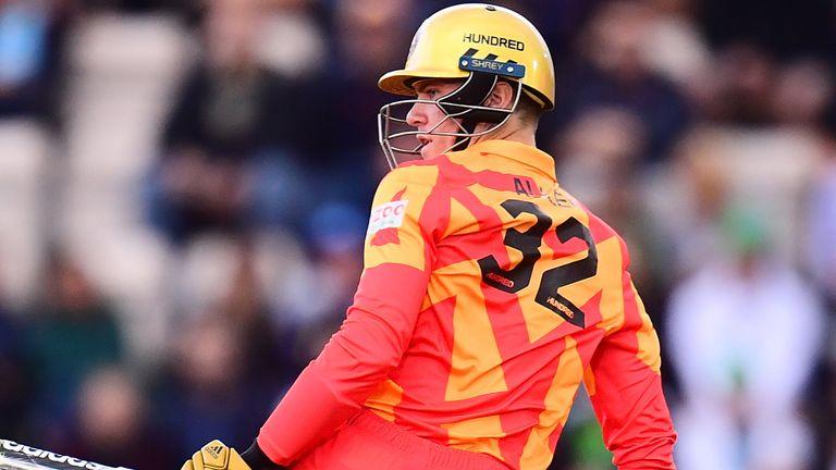 Birmingham Phoenix opening batsman Finn Allen scored a fine 43 off 23 deliveries