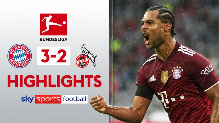 Highlights of the Bundesliga match between Bayern Munich and FC Koln.