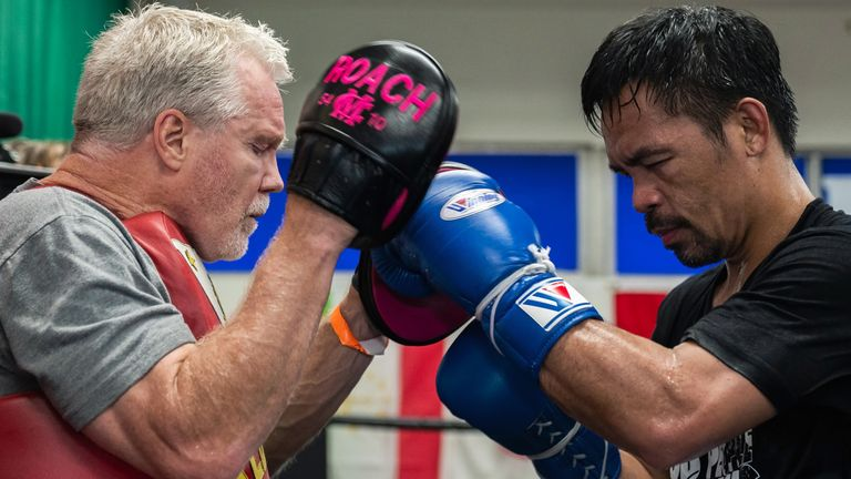 Pacquiao and Freddie Roach