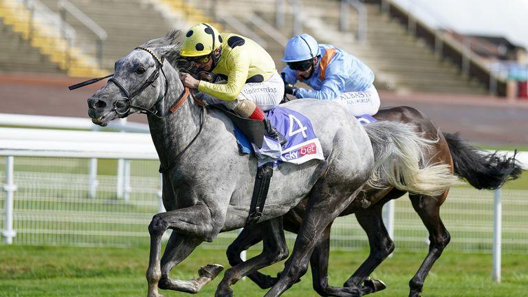 Fujaira Prince wins the Ebor at York last year, beating Glencadam Glory