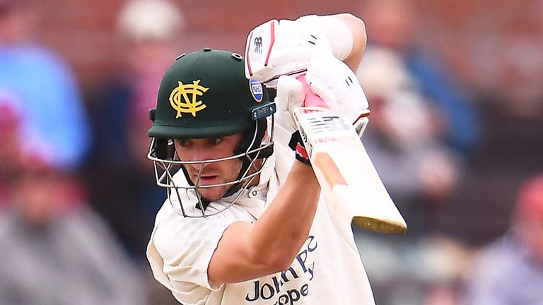 Joe Clarke scored a half-century as Nottinghamshire had the better of the first day at Taunton