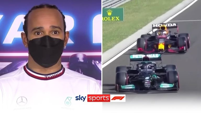 A frustrated Lewis Hamilton shut down claims that he purposely went slow on his out lap to disrupt Max Verstappen.