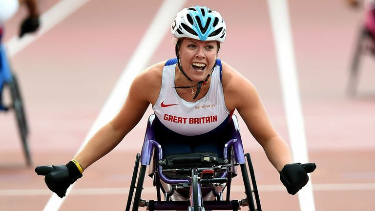 Hannah Cockroft will look to defend her T34 100m and 800m titles in Tokyo