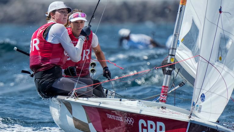 Hannah Mills and Eilidh McIntyre claimed another gold for Team GB in sailing