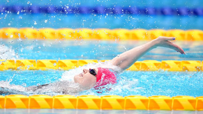 Hannah Russell successfully retained her S12 100m backstroke title (Pictures: Channel 4)