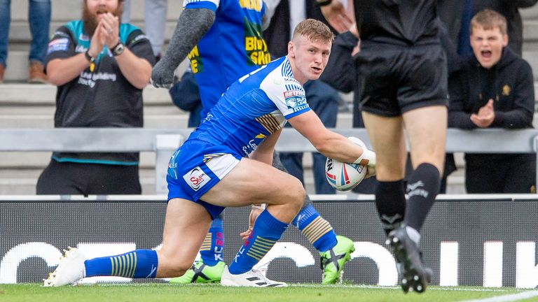 Harry Newman appeared to have won the game for Leeds with his two tries
