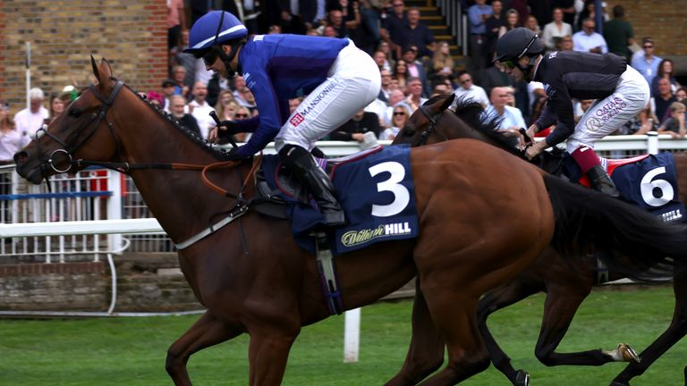 Hayley Turner rides Quickstep Lady to victory in the Racing League at Windsor