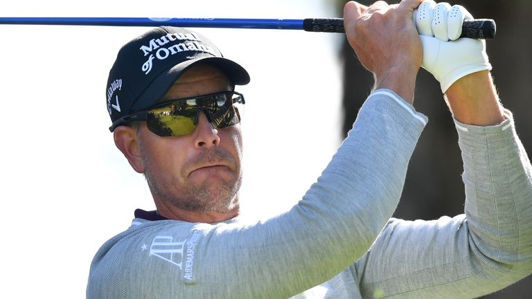 Henrik Stenson fired a 63 to race into third place