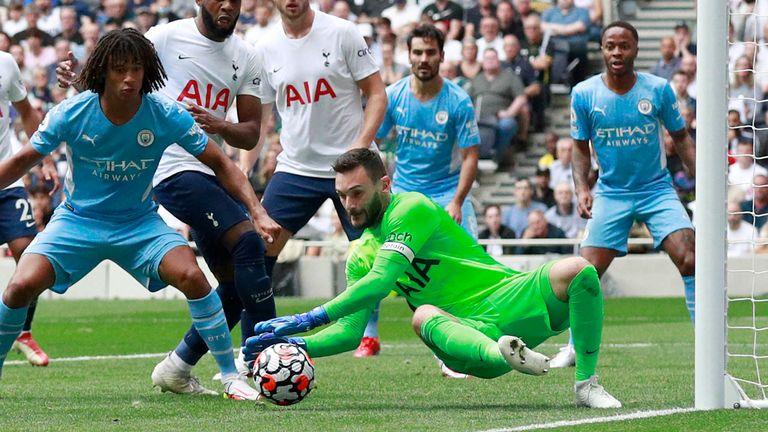 Hugo Lloris plucks the ball at his near post