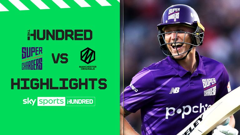 Watch highlights of the epic match where the Superchargers hit The Hundred's first ever 200 against their rivals the Originals.