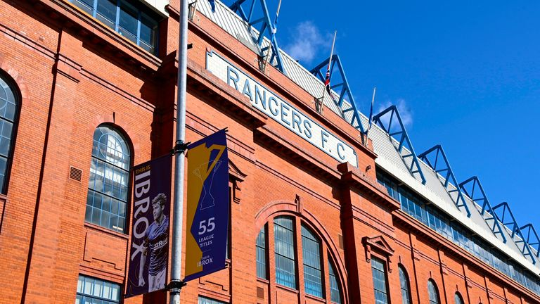 GLASGOW, SCOTLAND - APRIL 11: A general view during a Scottish Premiership match between Rangers and Hibernian at Ibrox Stadium, on April 11, 2021, in Glasgow, Scotland. (Photo by Rob Casey / SNS Group)