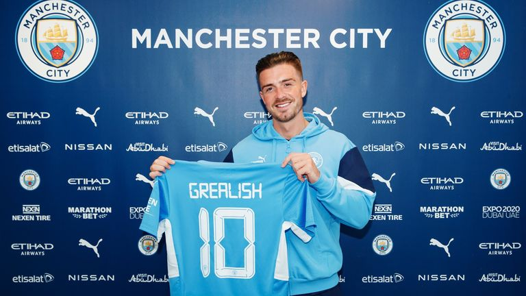 Jack Grealish has signed for Manchester City on a six-year deal