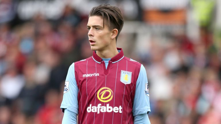 Jack Grealish playing for Aston Villa in 2014
