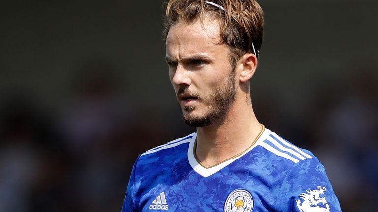 Leicester midfielder James Maddison (AP)