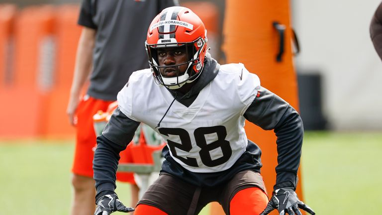 The Browns snagged themselves a potential steal in linebacker Jeremiah Owusu-Koramoah (AP Photo/Ron Schwane)