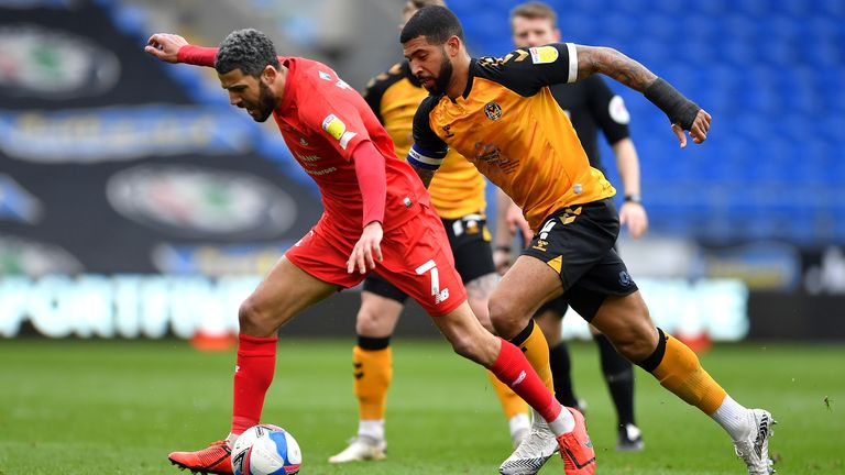 Jobi McAnuff in action for Leyton Orient during his time as player-manager
