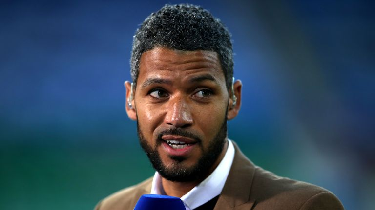 Sky Sports pundit Jobi McAnuff during the Sky Bet Championship play-off match at the Cardiff City Stadium, Cardiff. PA Photo. Picture date: Monday July 27, 2020.