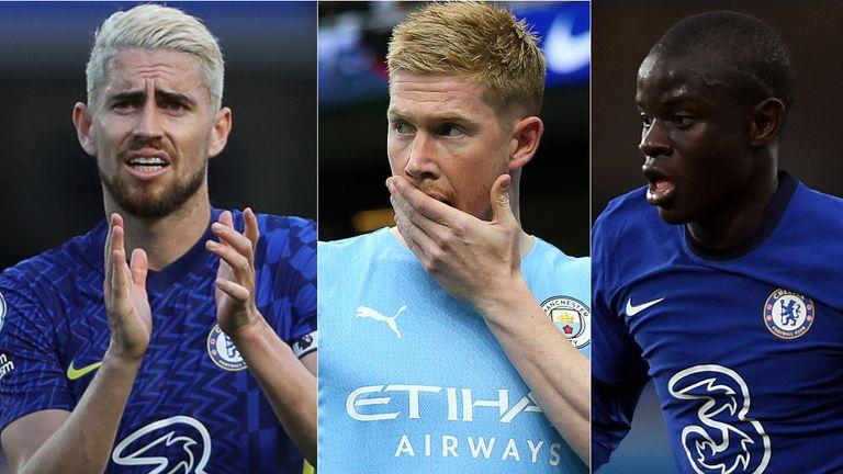 AP:  Jorginho, De Bruyne and Kante