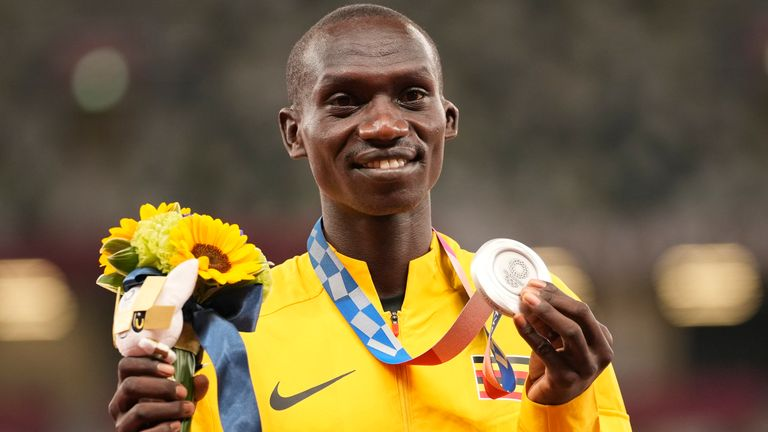 Joshua Cheptegei has already won the silver medal in the men's 10,000m and could add another in the 5,000m