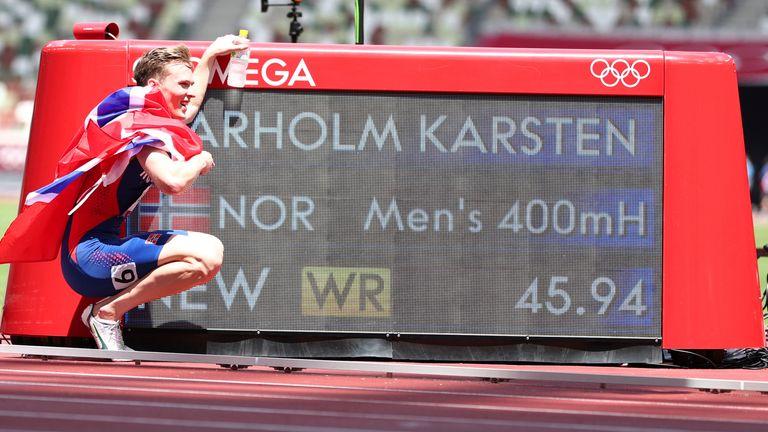 Karsten Warholm a enregistré un temps de 45,94 secondes