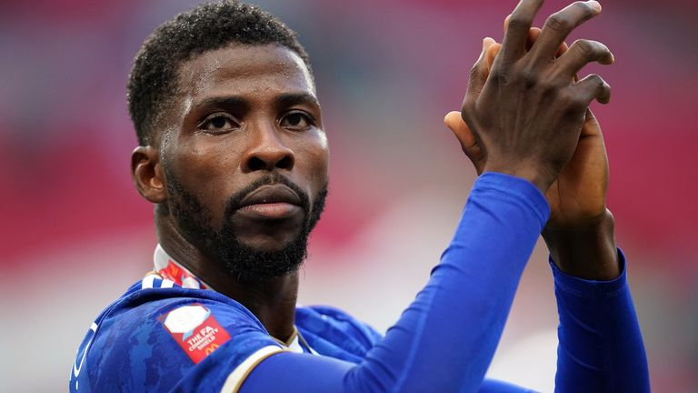 Kelechi Iheanacho featured in Leicester's Community Shield win over Manchester City