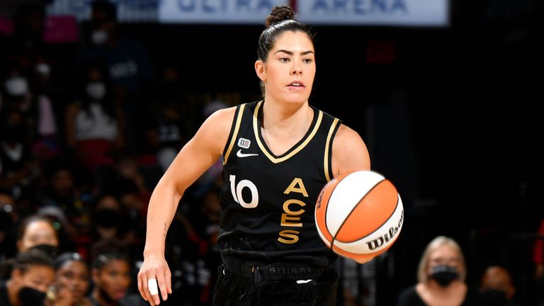 Aces' point guard Kelsey Plum won a gold medal with the USA in the women's 3x3 basketball event in Tokyo