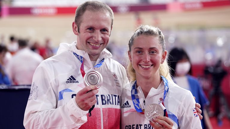 Jason Kenny's eighth Olympic medal moved him level with Sir Bradley Wiggins as both he and his wife Laura claimed a silver in Tokyo