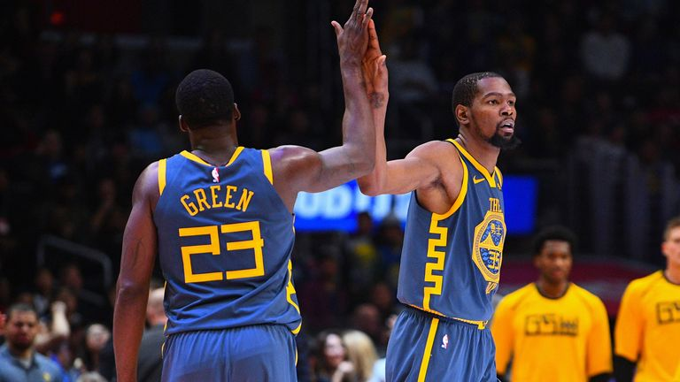 Green and Durant during their time together with the Warriors (AP) Kevin Durant, Draymond Green clear air on 2018 confrontation Kevin Durant, Draymond Green clear air on 2018 confrontation skysports kevin durant draymond green 5483597