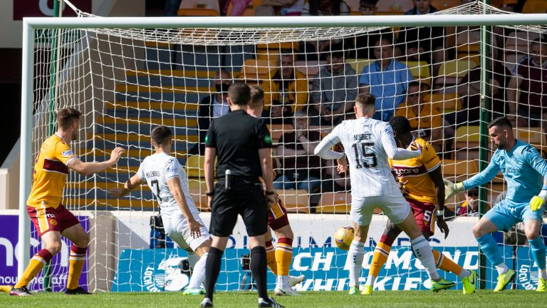 Kyle Magennis hauls Hibernian level in the first half