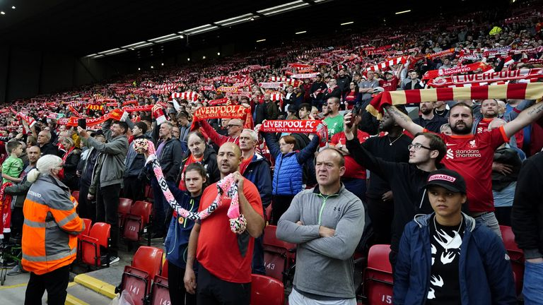 Supporters were back in numbers at Anfield for their pre-season friendly against Spanish side Osasuna