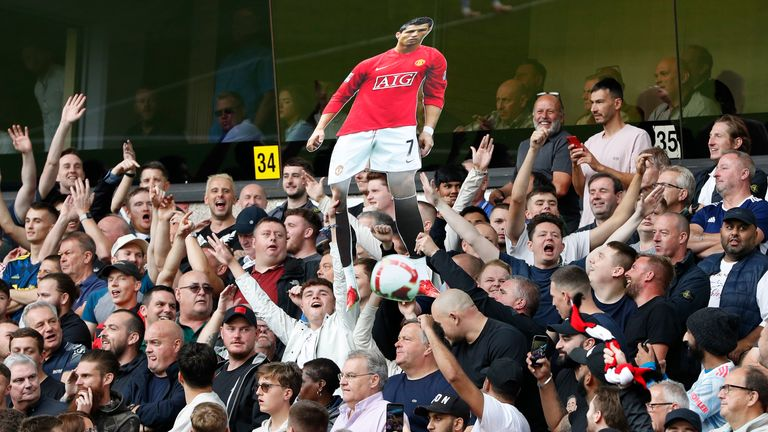 United fans serenaded Cristiano Ronaldo for long periods