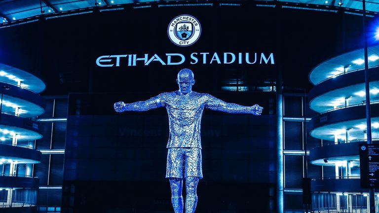 Manchester City have unveiled a Vincent Kompany statue outside of the Etihad stadium.