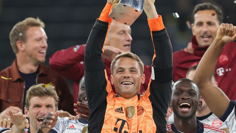 Bayern Munich lifted the German Super Cup after a 3-1 win over Borussia Dortmund