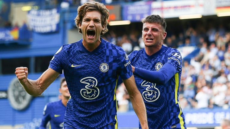 Marcos Alonso scored a stunning opening goal