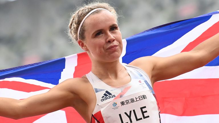 Maria Lyle secured ParalympicsGB's first athletics medal of the Games