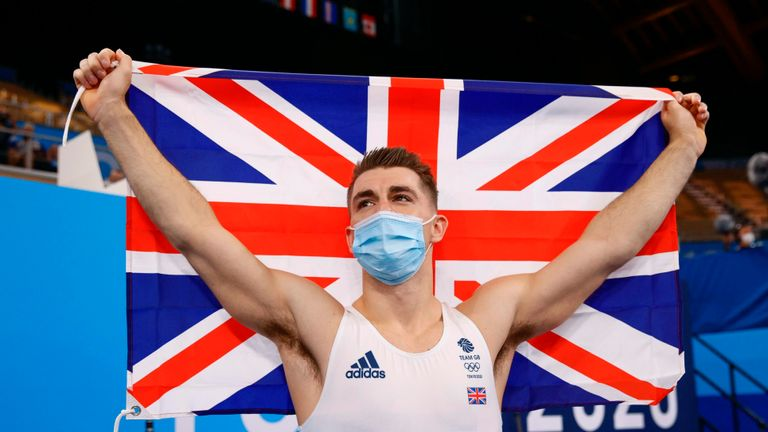 Whitlock produced a brilliant performance to defend his individual pommel horse Olympic title - and then said he had never been so nervous going into a competition